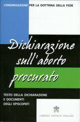Immagine di Dichiarazione sull' aborto procurato - testo e documenti degli episcopati