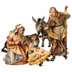 Immagine di Set Sacra Famiglia con Bue e Asino - 6 pezzi (Presepe Ulrich cm23 - FAM6)