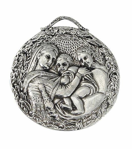 Immagine di Madonna della Seggiola - Medaglia confraternita, bagno oro o argento AMC 395