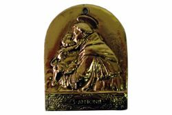 Picture of Saint Anthony of Padua / Santo António de Lisboa - Gold or silver plated Confraternity Medal AMC 397