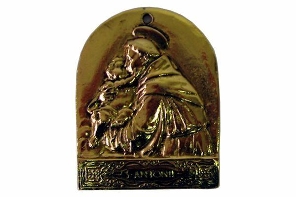 Immagine di Sant' Antonio da Padova / Santo António de Lisboa - Medaglia confraternita, bagno oro o argento AMC 397