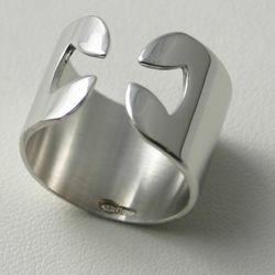 Picture of Cross Ring, Relicon Collection - SILVER RING