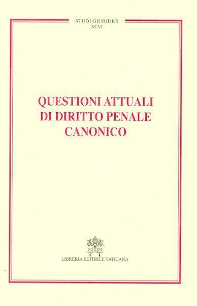 Imagen de Questioni attuali di diritto penale canonico