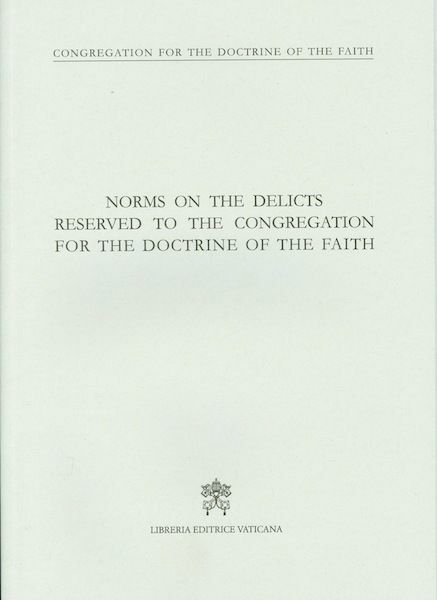 Imagen de Norms on the delicts reserved to the Congregation of the Doctrine of Faith