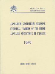 Picture of Annuaire Statistique de l' Eglise 1969