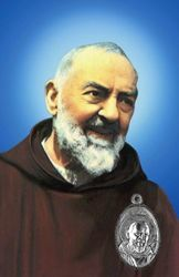 Picture of Saint Pio de Pietrelcina - image de devotion + medaille