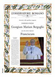 Immagine di L' Osservatore Romano, Edición extraordinaria - Elección del Papa Francisco