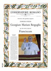 Picture of L' Osservatore Romano, Edition extraordinaire - élection du Pape François