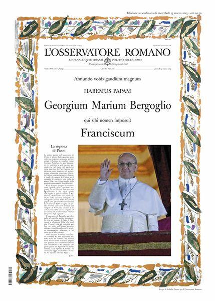 Picture of L' Osservatore Romano, Edition extraordinaire - élection du Pape François