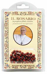 Immagine di Papa Francesco: il Rosario, la preghiera filiale cristiana - Rosario in legno + libro
