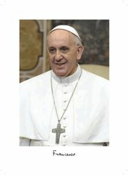 Picture of Pope Francis official photo, small cm 25x35 - PRINT