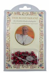 Immagine di Papst Franziskus - Das christliche Bruderschaftsgebet - BUCH + ROSENKRANZ AUS WALD