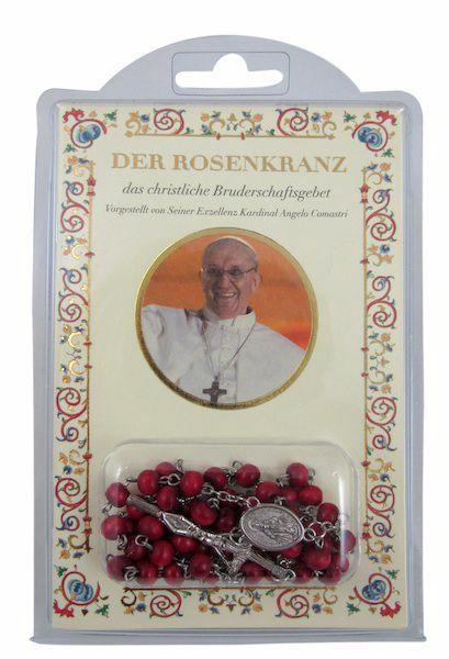 Picture of Papst Franziskus - Das christliche Bruderschaftsgebet - BUCH + ROSENKRANZ AUS WALD