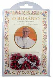 Immagine di Papa Francisco - O Rosário, a oração filial cristã - livro e rosário de madeira