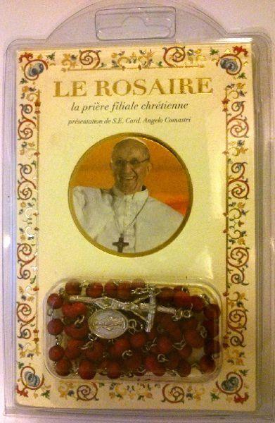 Imagen de Pape François - La prière filiale chrétienne - LIVRE + CHAPELET EN BOIS