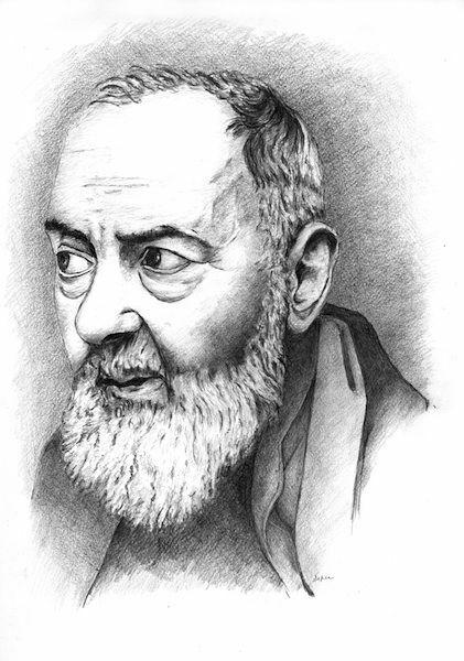 Picture of Saint Pio of Pietrelcina (2)- DRAWING