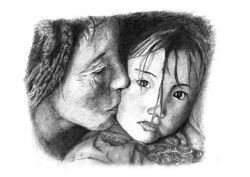 Picture of Mother with child (2)- DRAWING