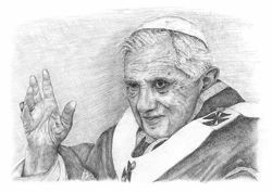 Picture of Pope Benedict XVI - DRAWING