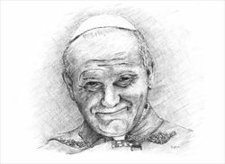 Picture of Don't be afraid. Pope John Paul II - PRINT