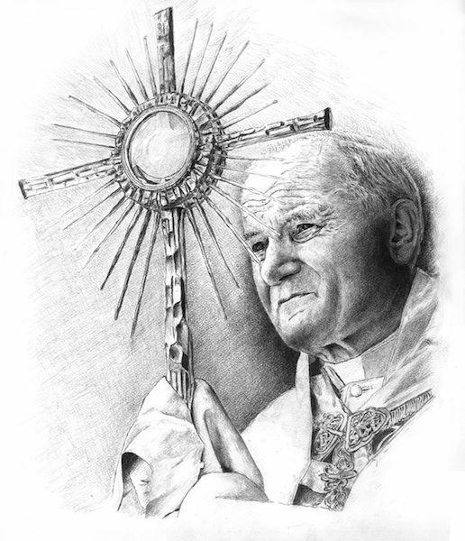 Picture of Pope John Paul II - PRINT