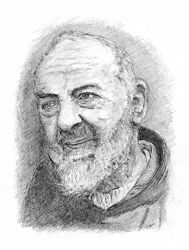Picture of Saint Pio of Pietrelcina (1)- DRAWING