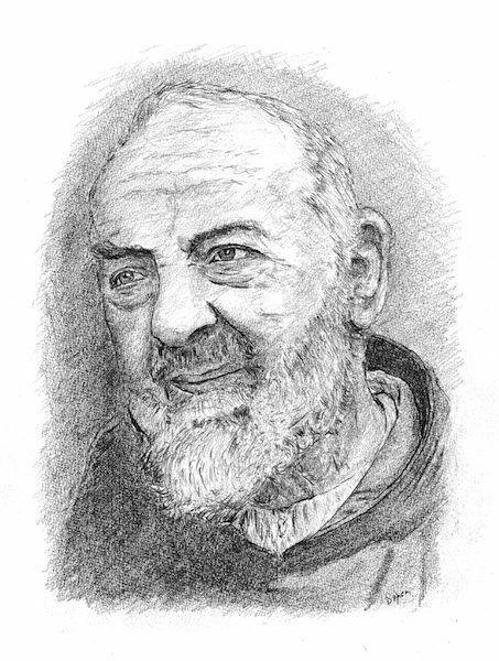 Imagen de Padre Pío de Pietrelcina (1)- DIBUJO