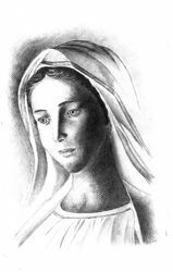 Picture of Our Lady of Medjugorje - DRAWING