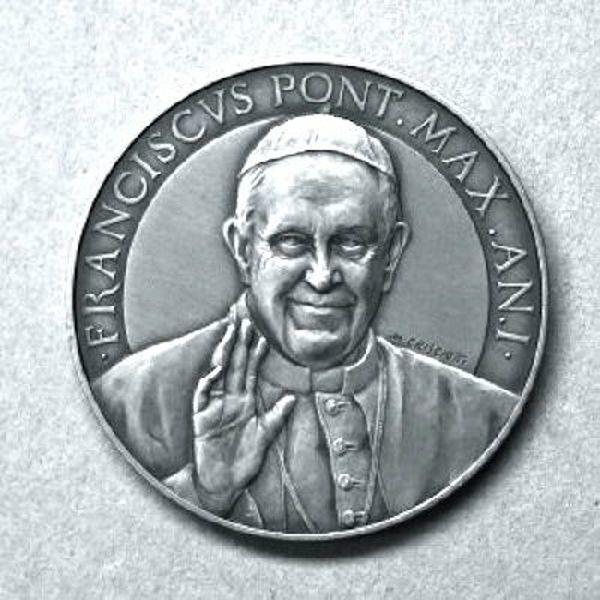 Immagine di Medaglia ufficiale del I anno di Pontificato di Papa Francesco - ARGENTO