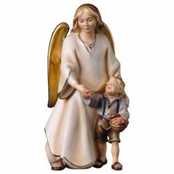 Picture of Guardian angel with boy, cm 19 - SCULPTURE