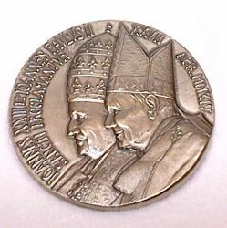 Picture of Official medal canonization John XXIII and John Paul II - Silver