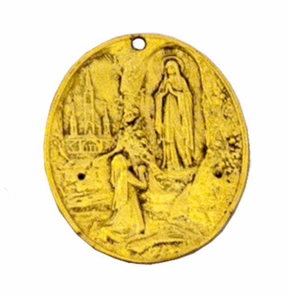 Imagen de Lourdes - Medalla Cofradía óvalo, baño oro o plata AMC 399