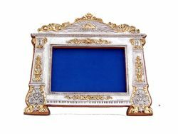 Picture of Altar Card with wodden frame, silver bath, gold finishing