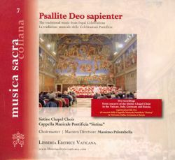 Imagen de Psallite Deo sapienter La tradizione musicale dalle celebrazioni papali The traditional music from Papal Celebrations - CD Cappella Musicale Pontificia Sistina