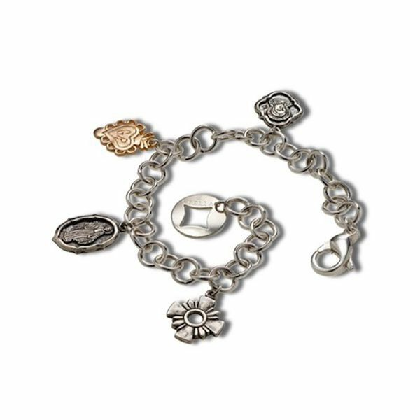 Picture of  Bracelet with religious charms - Silver