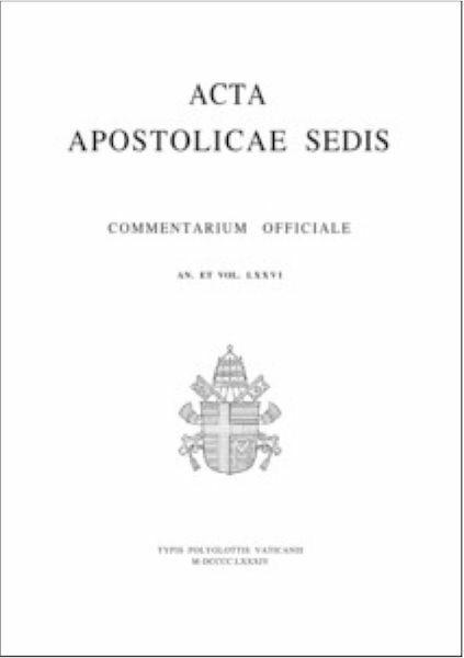 Immagine di Acta Apostolicae Sedis - Archivio arretrati