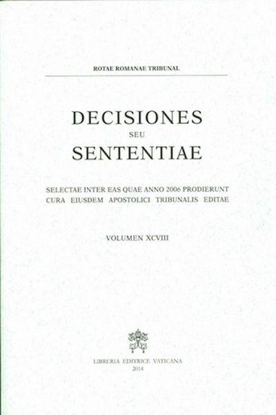 Picture of Decisiones Seu Sententiae Anno 2006 Vol. XCVIII 98