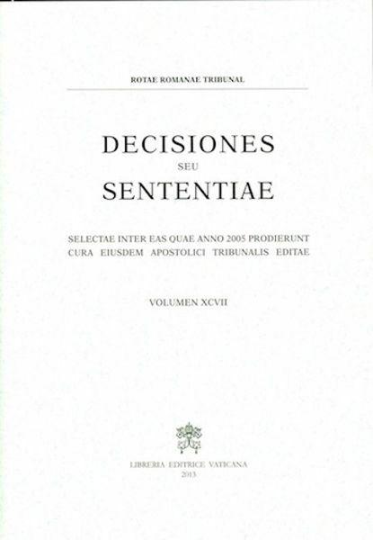 Imagen de Decisiones Seu Sententiae Anno 2005 Vol. XCVII 97