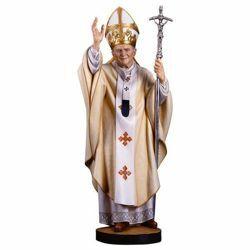 Imagen de San Papa Juan Pablo II - Estatuilla en madera