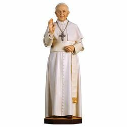 Picture of Pope Francis wood statuette