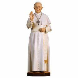 Imagen de Papa Francisco - Estatuilla en madera