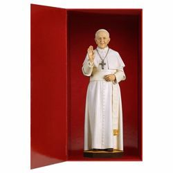 Picture of Pope Francis wood statuette with gift box