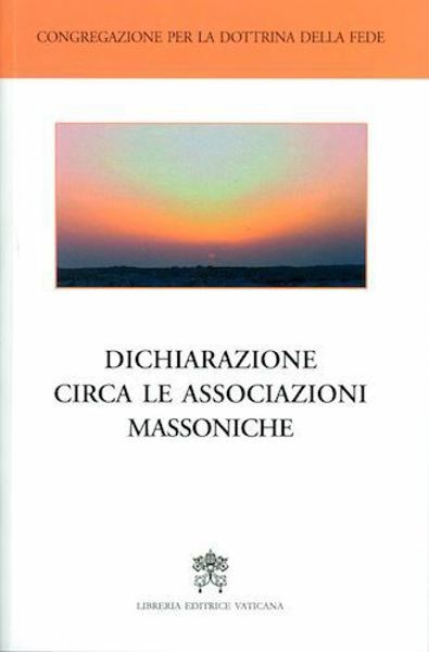 Imagen de Dichiarazione circa le associazioni massoniche (italiano)
