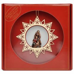 Picture of Christmas star with Holy Family
