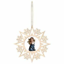 Picture of Set 14 Christmas decorations -  Snowflake with Angel