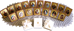 Immagine di Arcangelo Gabriele Icona in porcellana su tavola dorata cm 8x10x1,3 (3,15x3,9x0,5 inch) da muro e da tavolo
