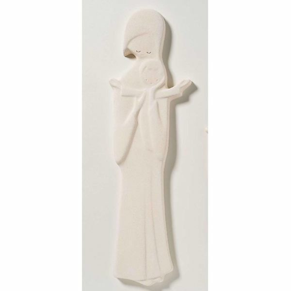 Picture of Madonna with Child cm 24 (9,4 inch) Sculpture in white refractory clay Ceramica Centro Ave Loppiano