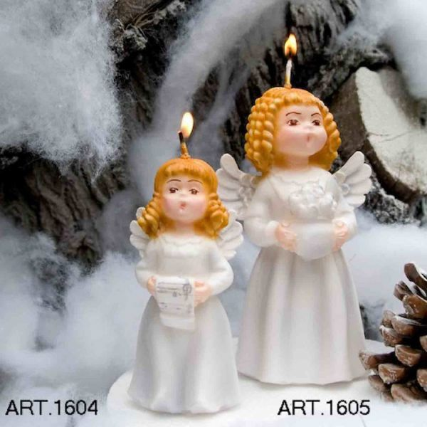 Picture of Christmas Candle Angel with Parchment, small