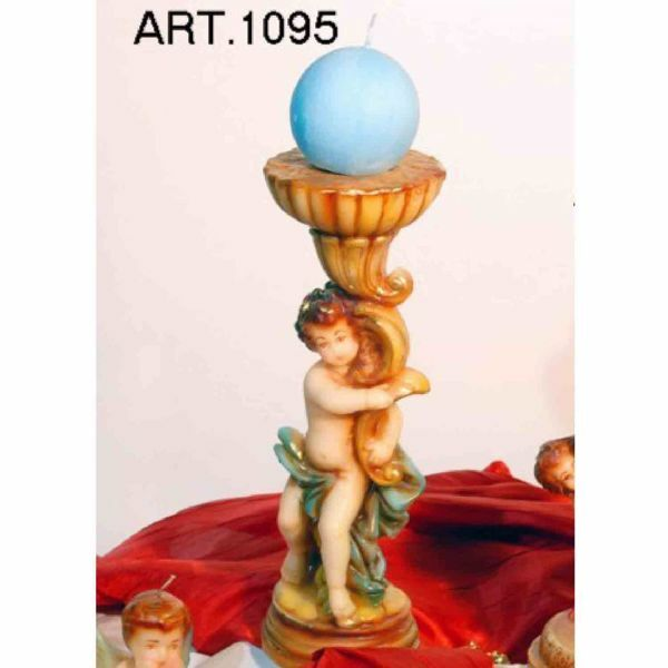 Picture of Candlestick with Cherub Christmas Candle