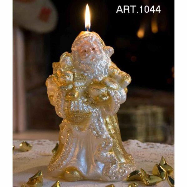 Picture of Christmas Candle Santa Claus with gifts
