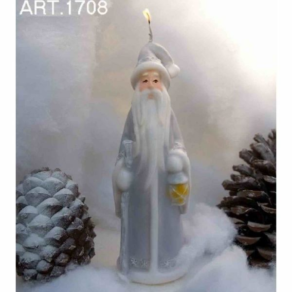 Picture of Christmas Candle Santa Claus with lantern, small